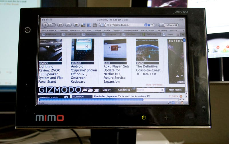 Illustration for article titled Mimo UM-750 7-inch USB Display Lightning Review