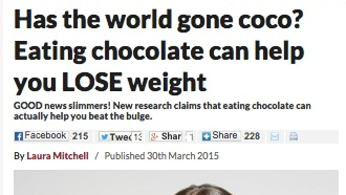 I Fooled Millions Into Thinking Chocolate Helps Weight Loss