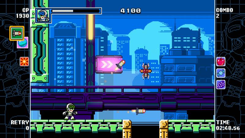 Illustration for article titled Mighty Gunvolt Burst Is A Mega Man-like That Lets You Make Your Own Bullets