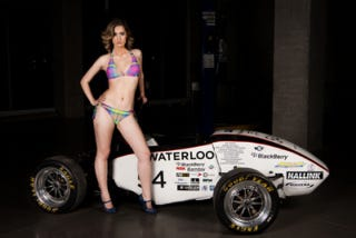 Illustration for article titled Picture Of An Engineering Student In Bikini Gets College Race-Car Team Suspended From Competition
