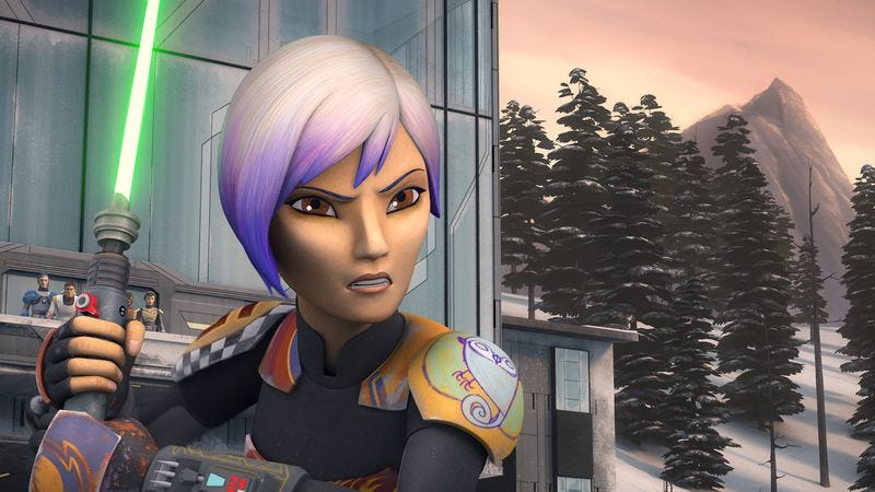 Illustration for article titled Sabine has a complicated, violent homecoming in a great Star Wars Rebels