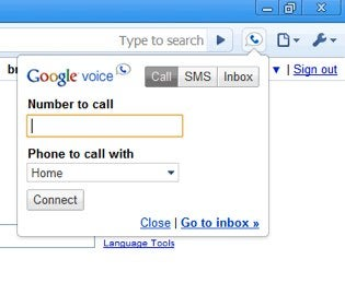How do I place a call from my Google Voice number