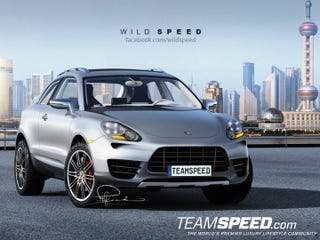 Illustration for article titled Renders of what the 2014 Porsche Macan 3-door might look like.