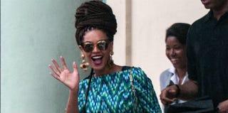 Beyoncé in Cuba (STR/AFP/Getty Images)