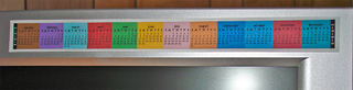 Illustration for article titled Monitor Strip Calendar