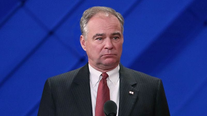 Illustration for article titled Tim Kaine Clearly Tuning Out In Middle Of Boring Vice Presidential Acceptance Speech