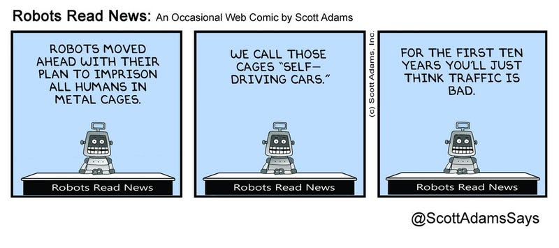 Illustration for article titled Self-driving cars. Beginning of the end.