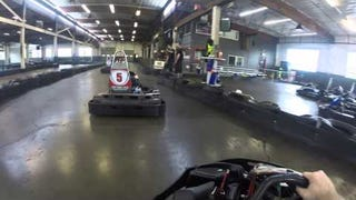 Went karting and took my GoPro