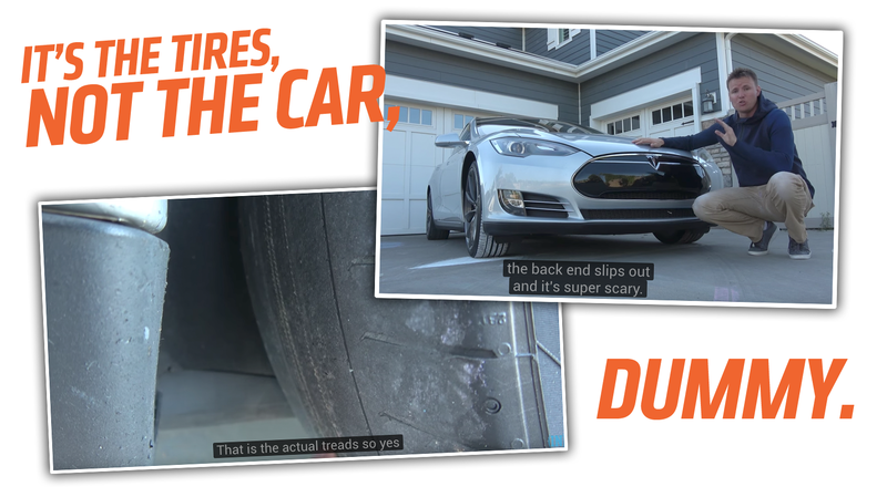 Illustration for article titled A Vlogger Is Getting Rid Of His Tesla Because It Needs New Tires