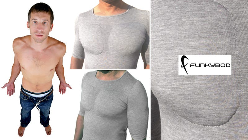 Why exercise when you can buy a 50 fake muscle t shirt for Best mens dress shirts under 50