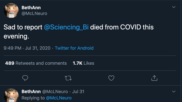 Science Twitter Got Catfished by a Fake Professor Who  Died From Covid