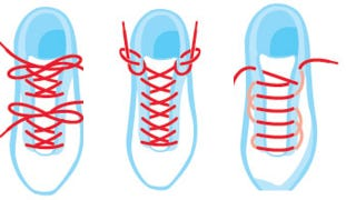Illustration for article titled Reduce Foot Pain with Alternate Shoe Lacing Methods