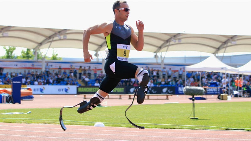 Illustration for article titled Will Oscar Pistorius' Prosthetic Legs Give Him an Unfair Advantage at the 2012 Olympic Games?