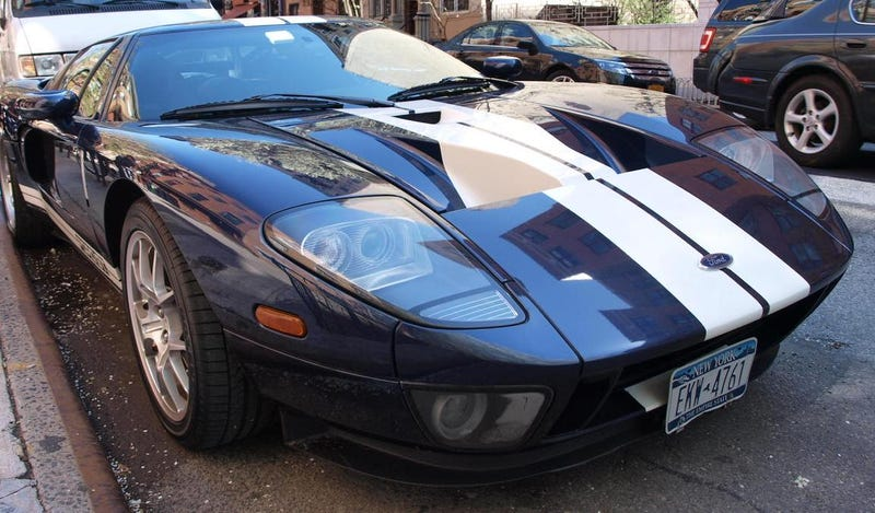 A Ford GT parked curbside by Tompinks Square some years back. Photo Credit: Raphael Orlove
