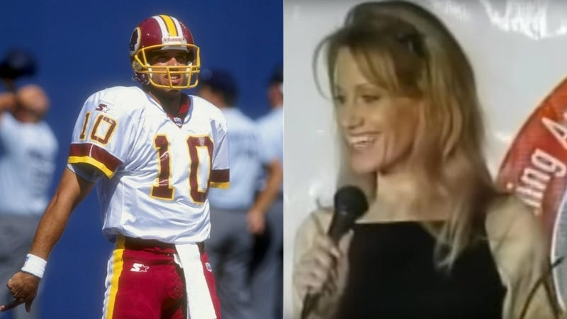Illustration for article titled Kellyanne Conway's Old Stand-Up Routine Shows How Long The Skins Have Been A Punchline