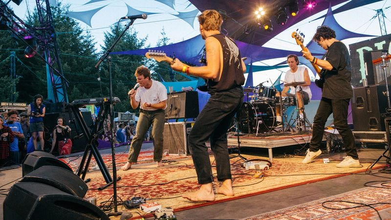 There are no shoes required on the Mt. Hood stage, apparently (Photo: Todd Cooper for Pickathon)