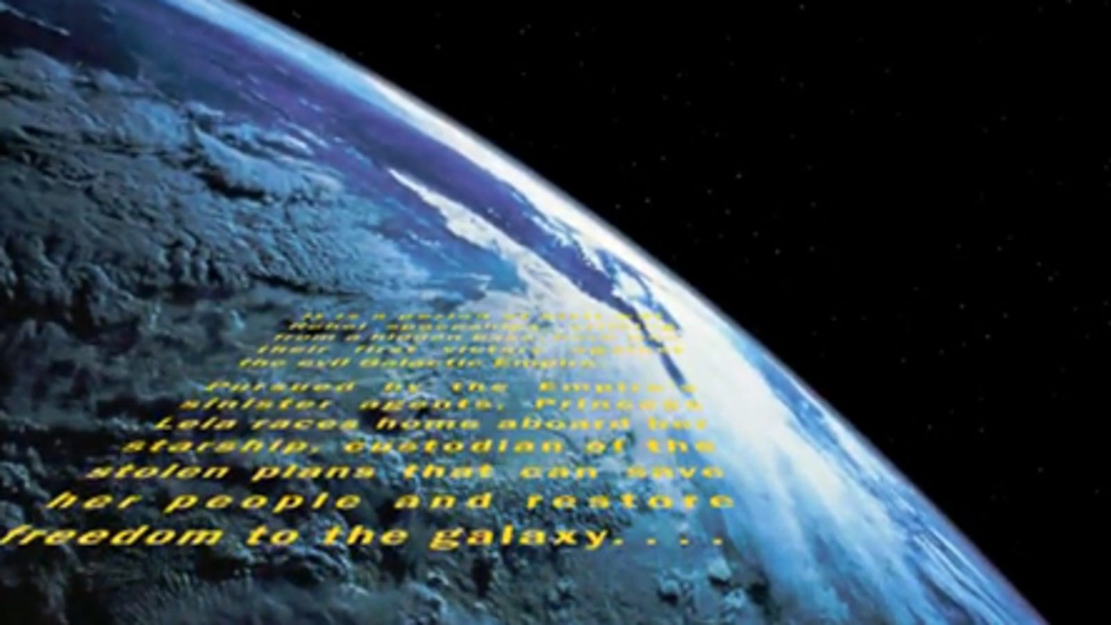 The Star Wars Opening Crawl Finally Reaches Earth