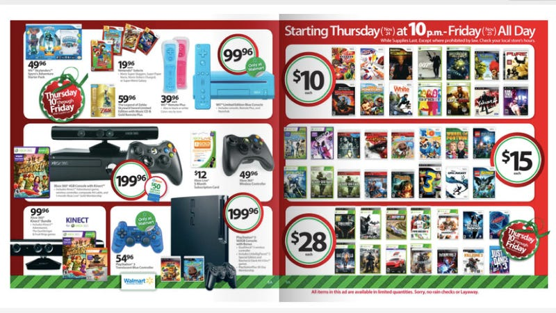 Illustration for article titled Get a Wii for Under $100 at Walmart on Black Friday