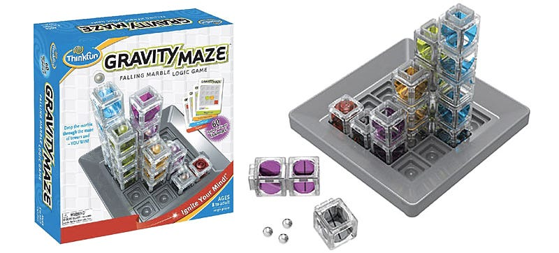 Illustration for article titled Gravity Powers This Marble Maze Board Game, No Batteries Required