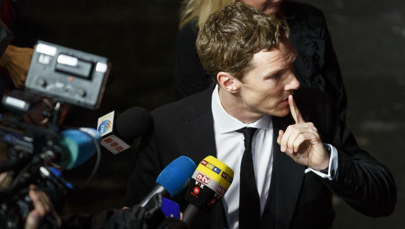 Illustration for article titled Caption This Shush-y Picture of Benedict Cumberbatch