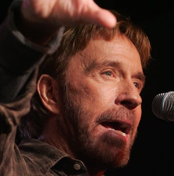 Illustration for article titled Chuck Norris Falls Victim To Pathetic Political Pandemic
