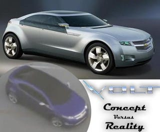Illustration for article titled 2010 Chevy Volt: Concept Versus Reality