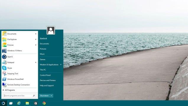 Start10 Brings a Customizable, Classic Start Menu Back to Windows 10