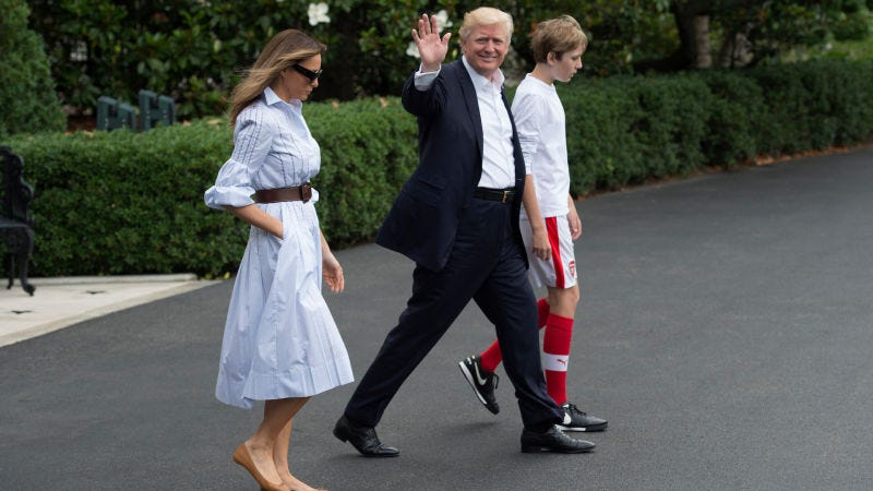 Illustration for article titled Father Of Future American Wonderteen Barron Trump Tries To Threaten His Way To A North American World Cup
