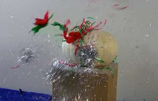 Illustration for article titled DIY Christmas Cannon is a Festive Tinsel Explosion