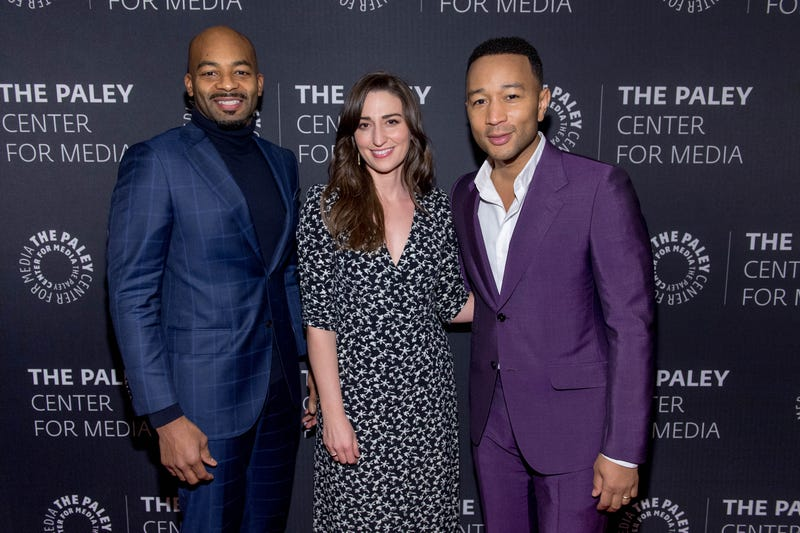 Brandon Victor Dixon, Sara Bareilles and John Legend at Behind the Scenes: Jesus Christ Superstar Live In Concert at the Paley Center for Media on Feb. 26, 2018, in New York City