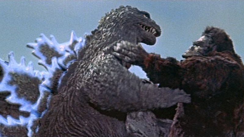 Illustration for article titled King Kong takes on Godzilla—what more can you ask for?