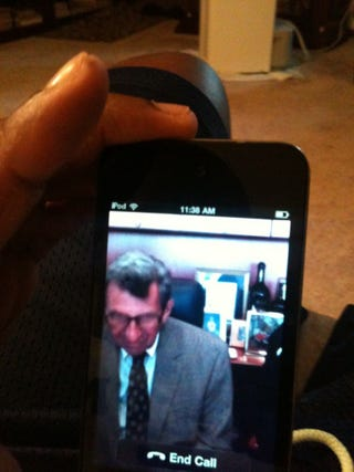 Illustration for article titled Joe Paterno Uses Skype, Wonders Why He Can't Get A Dial Tone