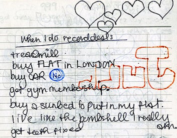 Illustration for article titled 17-Year-Old Amy Winehouse's Handwritten To-Do List