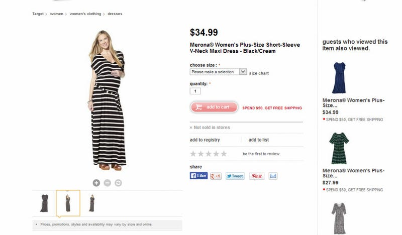 "Illustration for article titled Target Thinks ""Plus-Size"" Means Being Pregnant, Apparently"