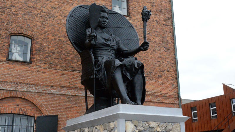 I Am Queen Mary, Denmark's first public monument honoring a black woman, was unveiled March 31, 2018.