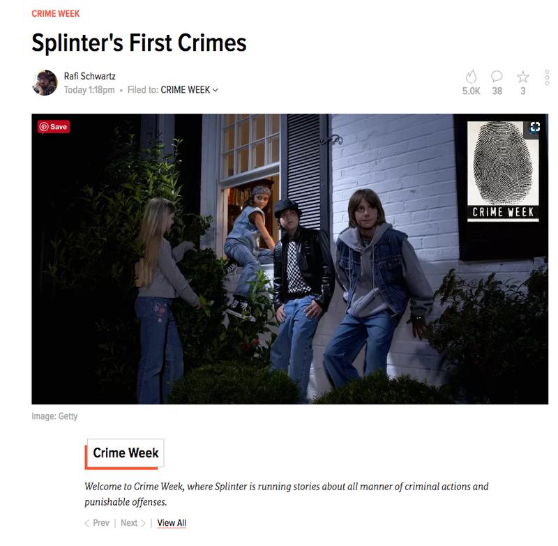 Crime Week Story Type Boilerplate on Splinter