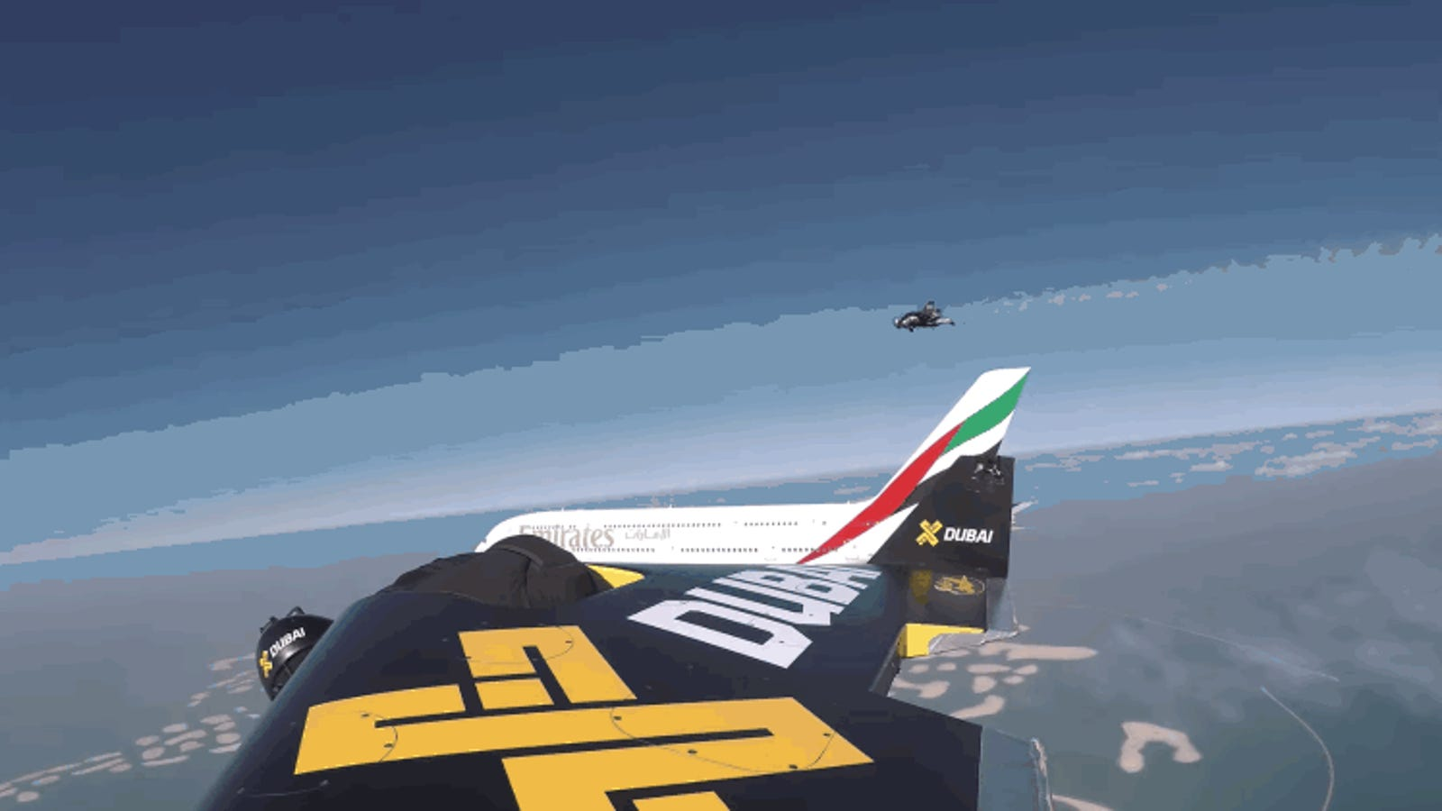 Watch These Jetmen Fly Wing-to-Wing With an Airbus A380 Above Dubai