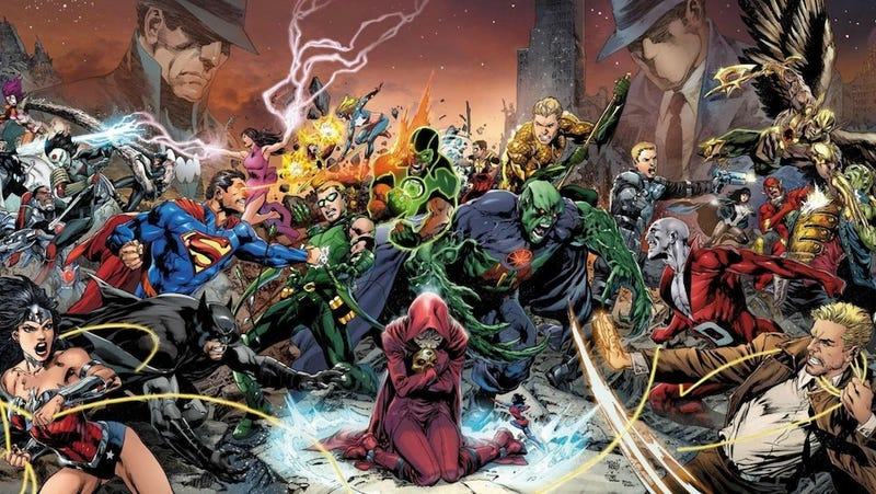 Illustration for article titled Uh, did Geoff Johns just spoil the end of DC's Trinity War?