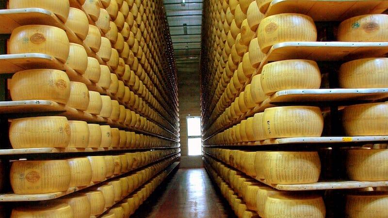 Algunos bancos en Italia aceptan queso como garantía de sus prestamistas