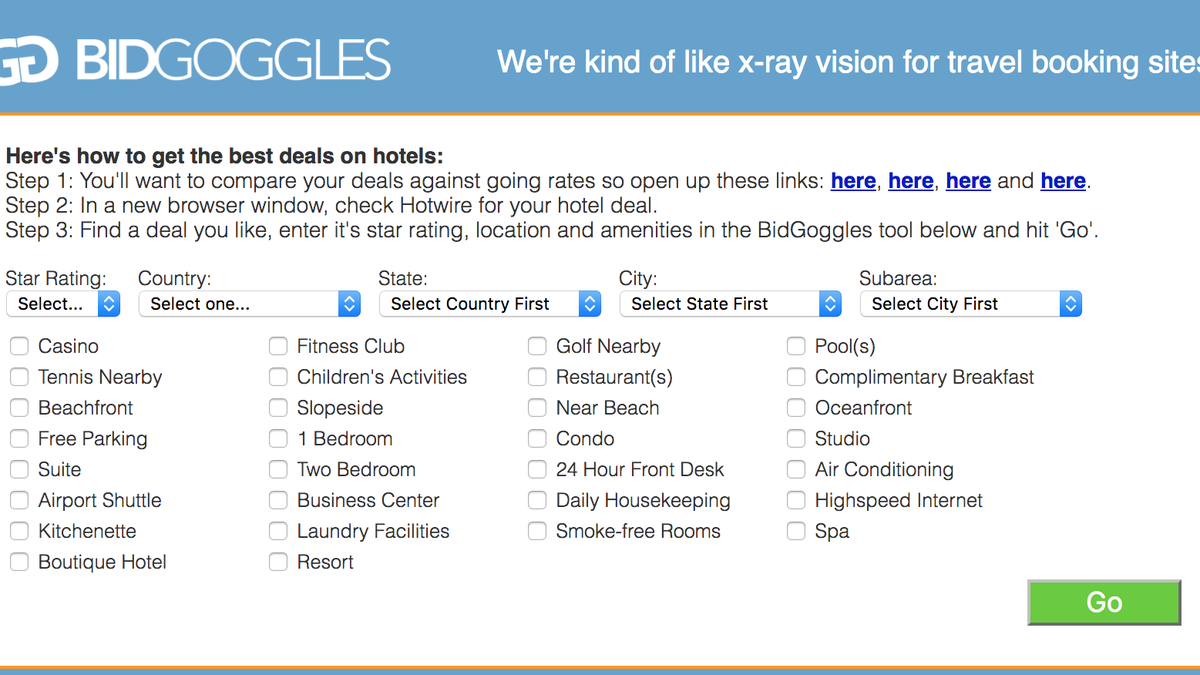 Figure Out What Hotel You\'re Booking on Hotwire Using BidGoggles