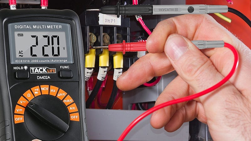 Tacklife Multimeter, $8 with code 3JAQ2NN9