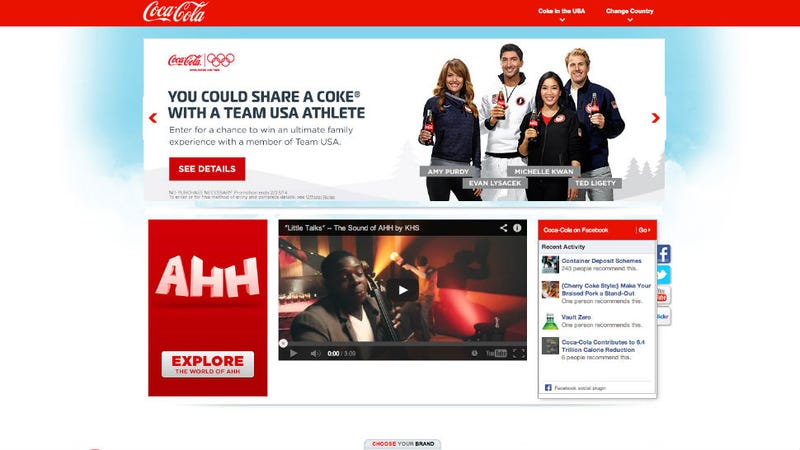 Illustration for article titled Coke Sponsors Winter Olympics By Not Really Telling America About It