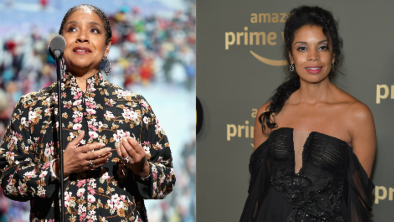 (L-R): Actress Phylicia Rashad speaks onstage during AHF and Debbie Allen Present Keeping the Promise-1,000,000 Lives In Care: Celebrating Icons of Dance on November 30, 2018 in New York City. ; Susan Kelechi Watson attends the Amazon Prime Video's Golden Globe Awards After Party on January 6, 2019 in Beverly Hills, California.