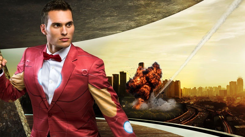 Illustration for article titled These Comic Book Formal Suits Are Wonderfully Bonkers
