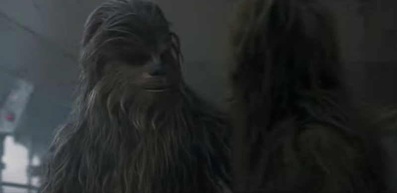 Illustration for article titled Urgent question: Will Chewie get to fuck that other Wookiee in the Solo trailer?