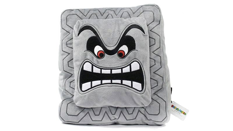 Illustration for article titled A Super Mario Bros. Plush Thwomp Is Perfect For Pillow Fights