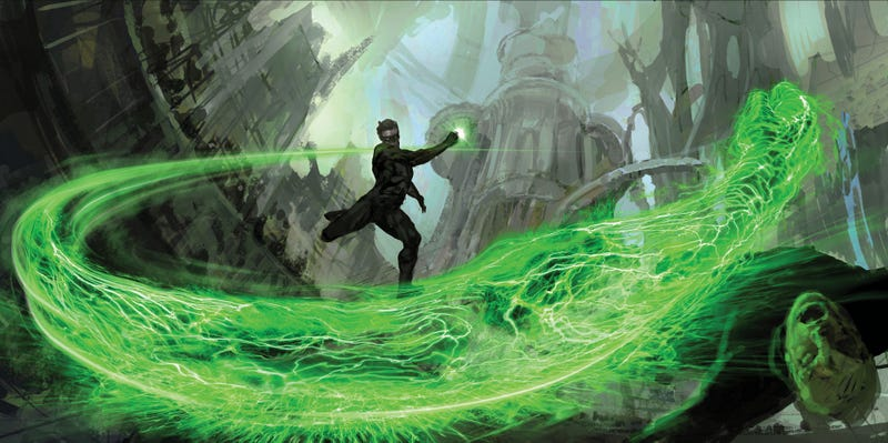 Illustration for article titled Superb Concept Art That Shows How Green Lantern's Intense World Became a Movie