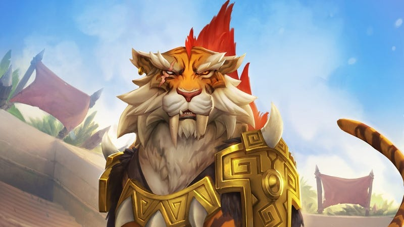 Illustration for article titled Hearthstone's New Tiger Card Will Tear You To Shreds