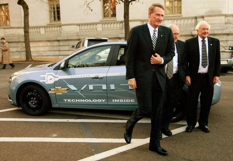 Illustration for article titled GM's Rick Wagoner Arrives At Capitol