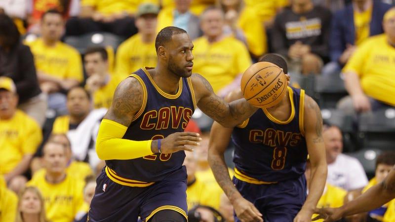 LeBron James helps Cavs erase record playoff halftime deficit